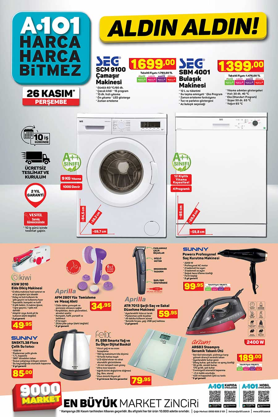 A101 26 Kasım 2020 Aktüel Ürün Kataloğu