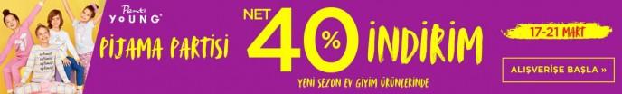 Penti Pijama Partisi Kampanyası ile Penti Young Ürünlerinde Net %40 İndirim