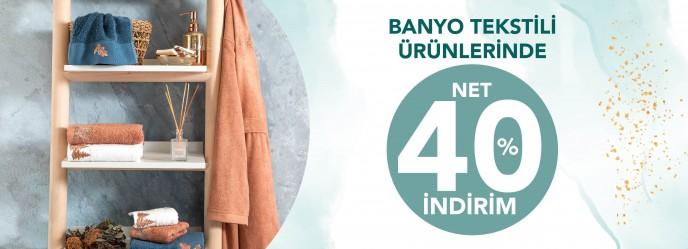 Chakra'da Banyo Tekstili Ürünlerinde Net %40 İndirim Başladı!