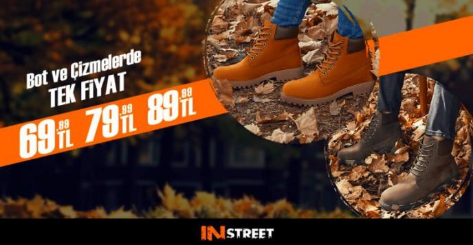 Sport In Street'te Fırsat! Çizme ve Botlarda Tek Fiyat 69,99-79,99-89,99 TL