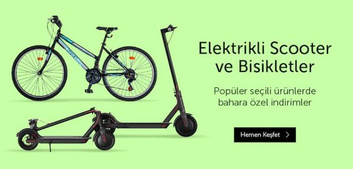 n11'de Elektrikli Scooter ve Bisikletlerde Bahara Özel İndirimler!