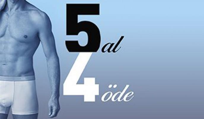 Dagi'den Erkek İç Giyimde 5 AL 4 ÖDE Kampanyası