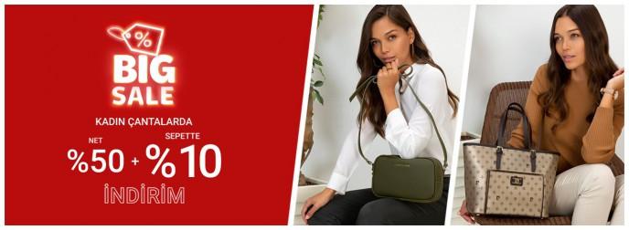 Pierre Cardin Kadın Çantalarda Net %50 + Sepette %10 İndirim