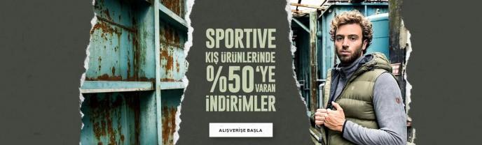 Sportive Kış Ürünlerinde %50'ye Varan İndirimler!