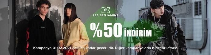 BRANDROOM Les Benjamins Ürünlerinde %50 İndirim!