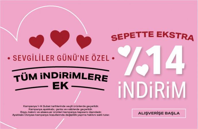 Ayakkabı Dünyası'nda Sevgililer Günü'ne Özel Sepette %14 İndirim
