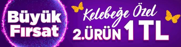 Kelebeğe Özel 2. ÜRÜN 1 TL Kampanyası Morhipo'da!