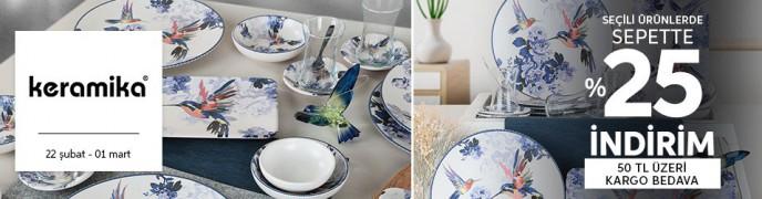 Trendyol Keramika Ürünlerinde Geçerli %25 Sepet İndirimi