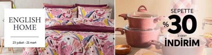 Trendyol English Home Ürünlerinde Sepette %30'a Varan İndirim