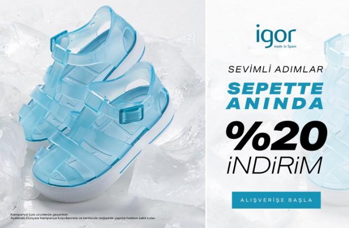 Ayakkabı Dünyası'nda Igor Ürünleri %20 Sepet İndirimleriyle!