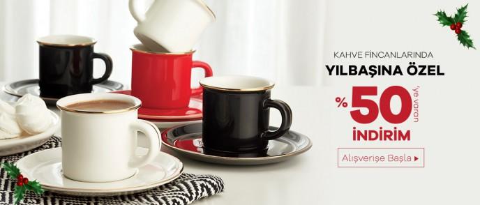 Emsan'da Yılbaşına Özel Kahve Fincanlarında %50'ye Varan İndirim