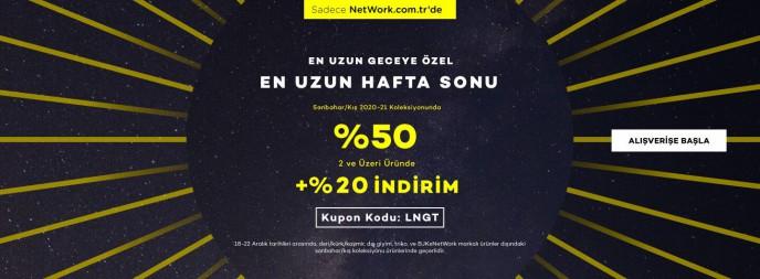 Network'te En Uzun Geceye Özel İndirim Kampanyası Başladı!