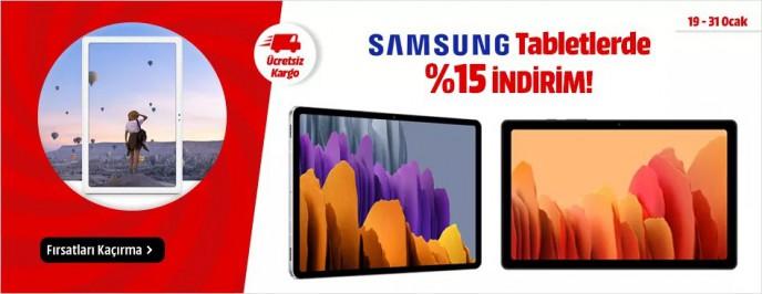 Samsung Tabletlerde %15 İndirim Fırsatı