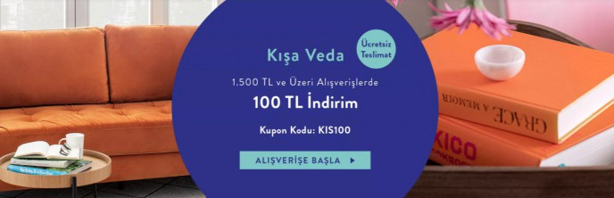 Vivense Kışa Veda İndirimleri: 100 TL İndirim Kazanma Kodu