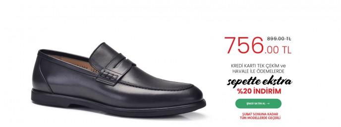 Nevzat Onay Ayakkabı Modellerinde Sepette %20 İndirim Fırsatı