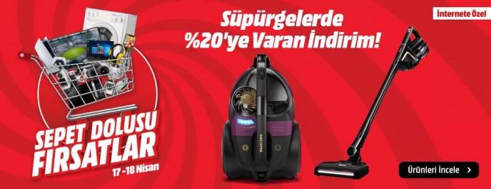 Süpürgelerde %20'ye Varan İndirim MediaMarkt'ta!