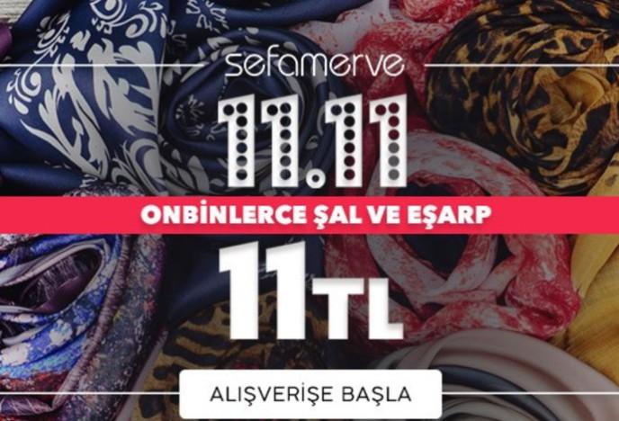Sefamerve' de Eşarp ve Şallar 11 TL