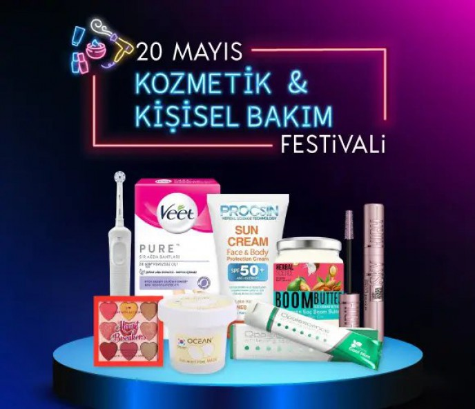 ÇiçekSepeti 20 Mayıs Kozmetik ve Kişisel Bakım Festivali Başladı!