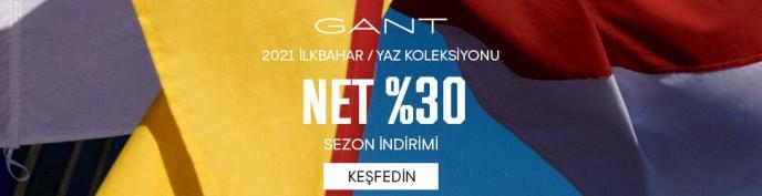 Gant'te Net %30 Sezon İndirimleri Başladı!