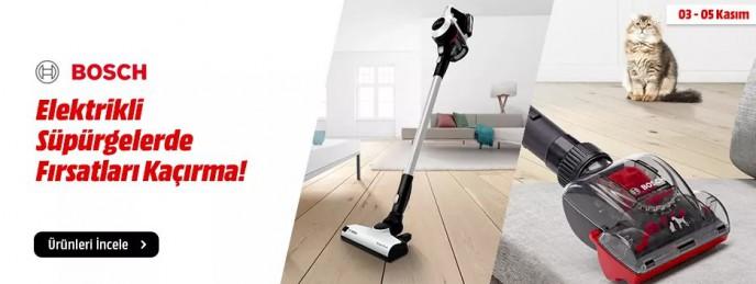 Bosch Elektrikli Ev Süpürgelerde Fırsat!