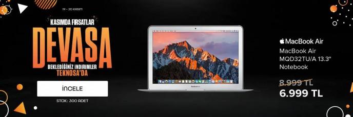 Teknosa Devasa Kasım Fırsatları Başladı! Macbook Air'de Büyük İndirim!