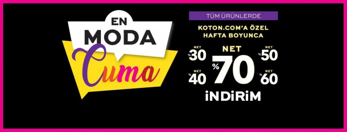 Koton.com'a Özel Hafta Boyunca %70'e Varan İndirim