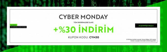 'Divarese.com.tr'de Cyber Monday Başladı! Tüm İndirimlere İlave +%30 İndirim!