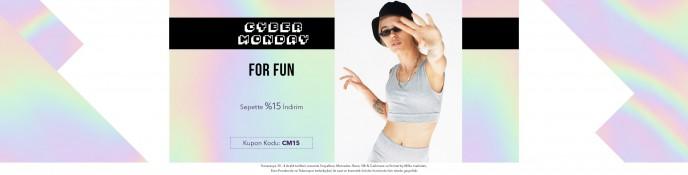 Lidyana Cyber Monday'e Özel For Fun Ürünlerinde %15 İndirim