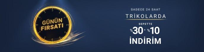 Pierre Cardin Günün Fırsatı: Trikolarda %30 + %10 İndirim!