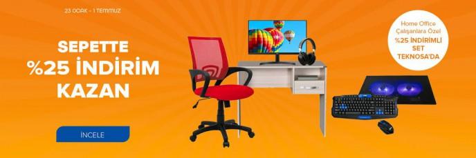 Teknosa'da Home Office Çalışanlara Özel %25 İndirimli Set!