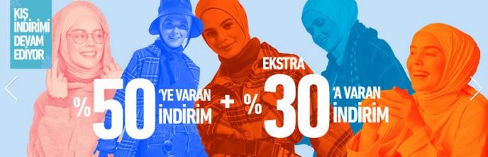Modanisa'da %50+%30 İndirim Fırsatı