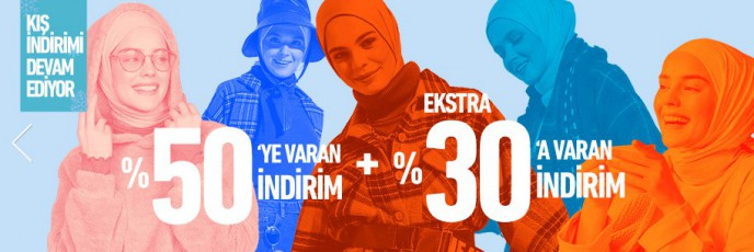 Modanisa'da %50+%30 Kış İndirimleri Devam Ediyor!