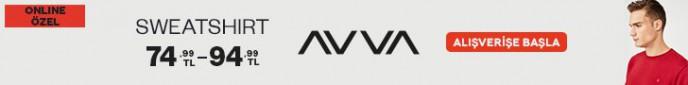 Avva'da Sweatshirt Kategorisi 74,99 TL - 94,99 TL!