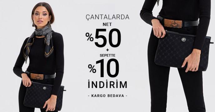 Pierre Cardin Çantalarda %50+%10 Sepet İndirimi Başladı