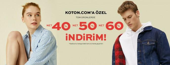 Koton'da Tüm Ürünlerde Geçerli %60'a Varan İndirim Şansı!