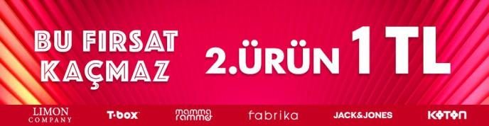 Giyim Ürünlerinde 2. Ürün 1 TL Kampanyası Morhipo'da!