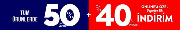 Mudo'da Tüm Ürünlerde %50+%40'a Varan İndirim