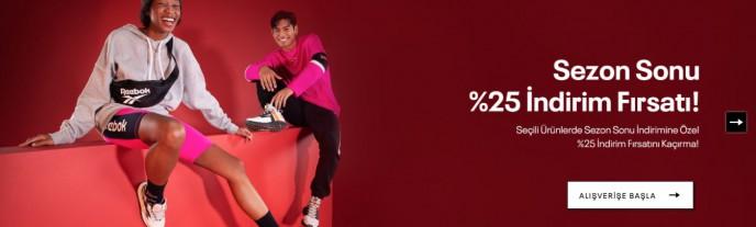 Reebok Sezon Sonu %25 İndirim Fırsatı!