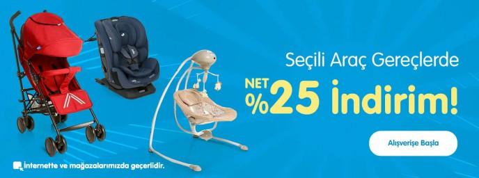 Ebebek'te Seçili Araç Gereçler %25 İndirimli Fiyatlarla!
