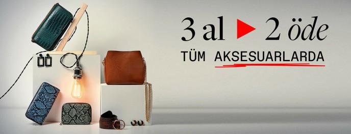 Koton Aksesuarlarda 3 AL 2 ÖDE Kampanyası!