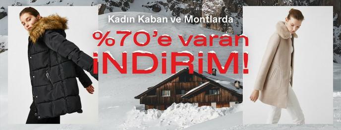 Koton Kadın Kaban ve Montlarında %70'e Varan İndirimler!