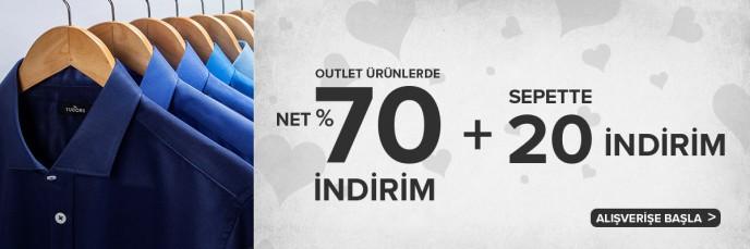 Tudors Outlet Ürünlerde Net %70 + Sepette %20 İndirim