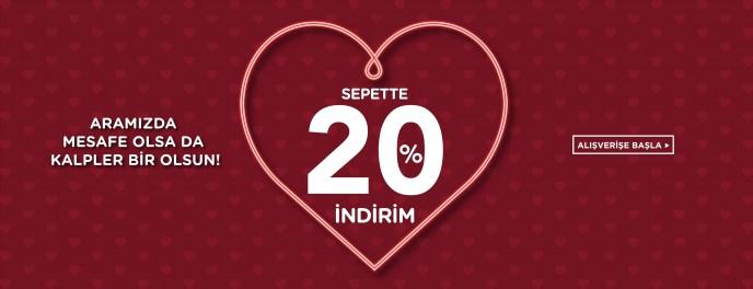 Colin's Sevgililer Günü Kampanyası: Sepette %20 İndirim