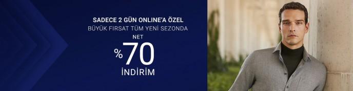 Sadece 2 Güne Özel %70 İndirim Pierre Cardin'de!