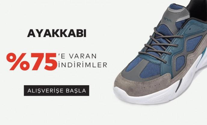 Avva Ayakkabı Modellerinde %75'e Varan İndirimlerle