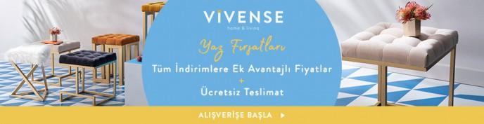 Vivense'de Yaz Fırsatları İle Tüm İndirimlere Ek Avantajlı Fiyatlar + Ücretsiz Teslimat!