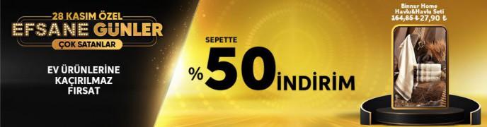 Trendyol 28 Kasım'a Özel Ev Ürünlerinde Sepette %50 İndirim