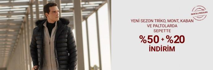 Pierre Cardin Yeni Sezon Ürünlerde %50+%20 İndirim Kampanyası