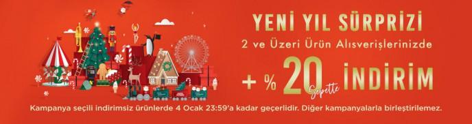 Brandroom'dan Yeni Yıl Sürprizi! 2 ve Üzeri Alışverişlerinizde %20 İndirim