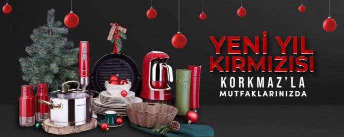 Yeni Yıl Kırmızısı KORKMAZ'la Mutfaklarınızda!